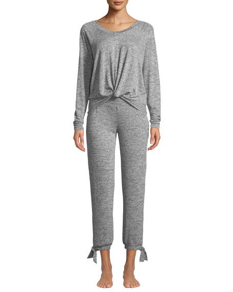 UGG Fallon Knotted-Jersey Pajama Set