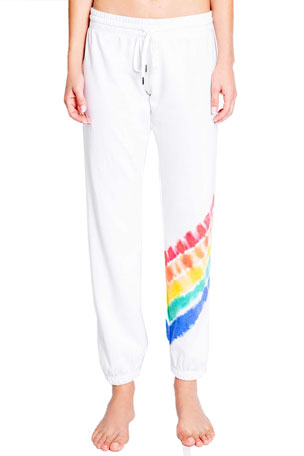 PJ Salvage Love Rules Rainbow Jogger Pants