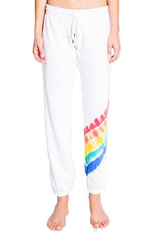 PJ Salvage Love Rules Rainbow Jogger Pants