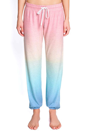 PJ Salvage Beach Bound Rainbow Jogger Pants