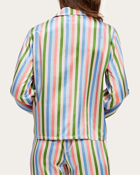 Image 2 of 2: Morgan Lane Ruthie Garden Stripe Pajama Top