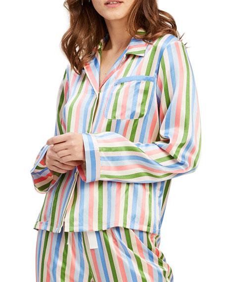 Image 1 of 2: Morgan Lane Ruthie Garden Stripe Pajama Top