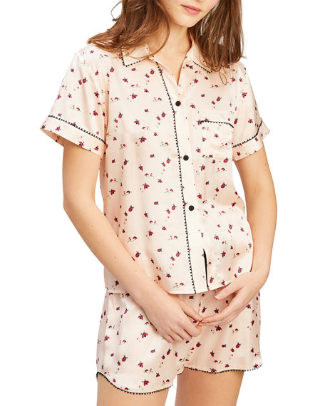 Image 1 of 2: Morgan Lane Tami Bea Lady Bug Printed Short Pajama Set