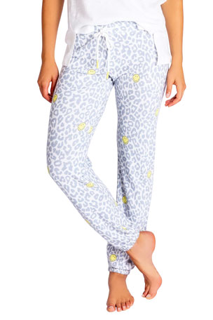 PJ Salvage Allover Smiley Jogger Pants