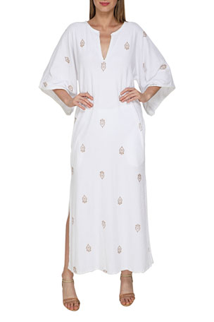 Flora Bella Alcove Long Stamped Terry Kaftan
