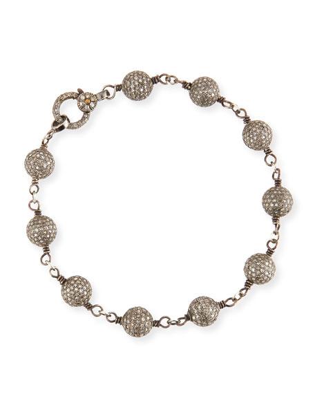 8mm Pavé Diamond Ball Bracelet