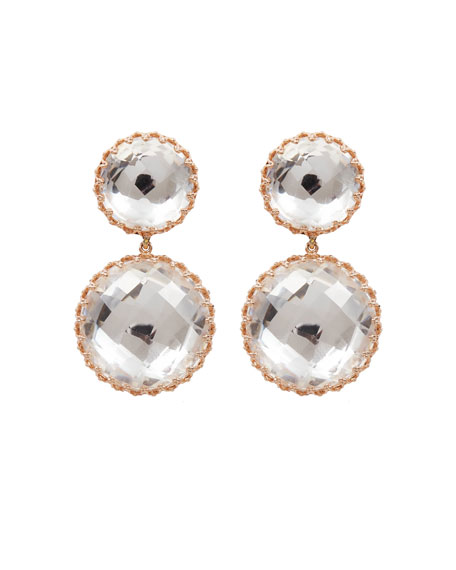Olivia Large Convertible Day-Night Earrings in White Foil