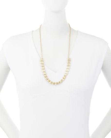 Harper Staggered Collar Necklace, Golden Metallic