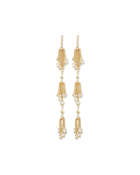 Talullah Crystal Tassel Drop Earrings