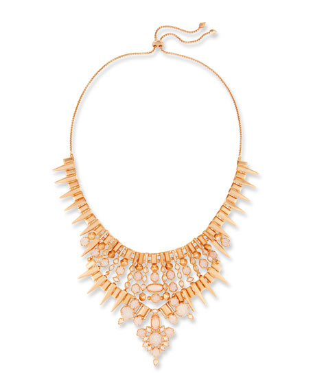 Kendra Scott Seraphina Crystal Bib Necklace, Ivory