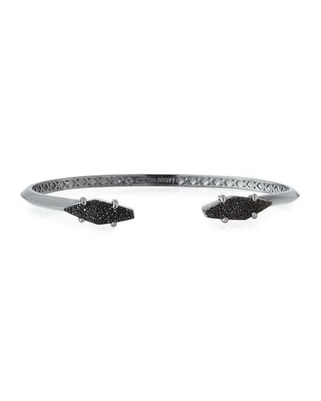 Bianca Black Druzy Cuff Bracelet