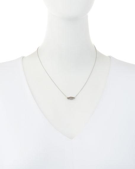 Bridgete Druzy Pendant Necklace, Metallic Silvertone
