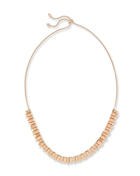 Kendra Scott Harper Staggered Collar Necklace, Pink Metallic