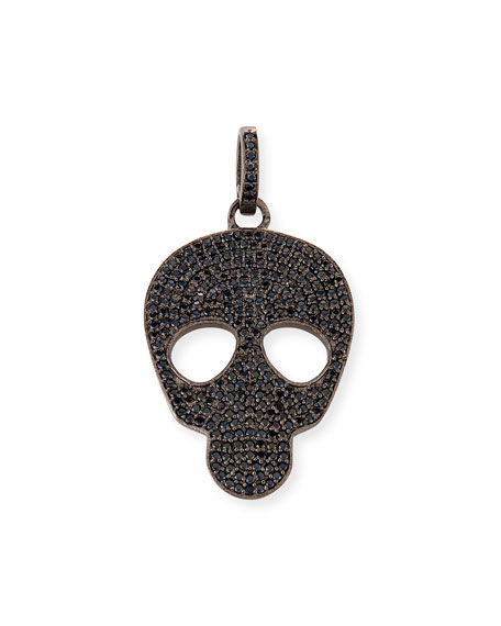Margo Morrison Small Black Spinel Skull Charm bt45WI