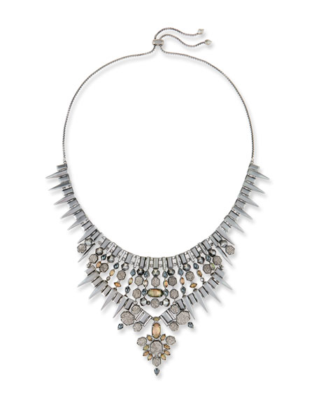 Kendra Scott Seraphina Crystal Bib Necklace, Black