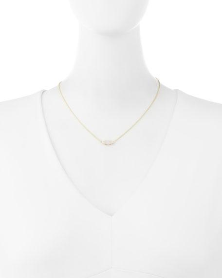 Bridgete Druzy Pendant Necklace, Clear
