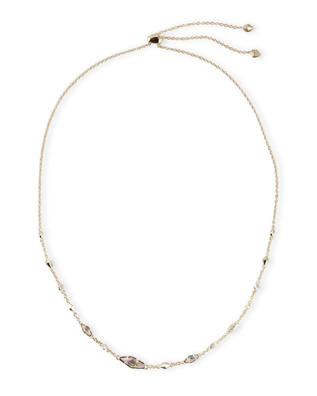 Debra Station Necklace, Clear