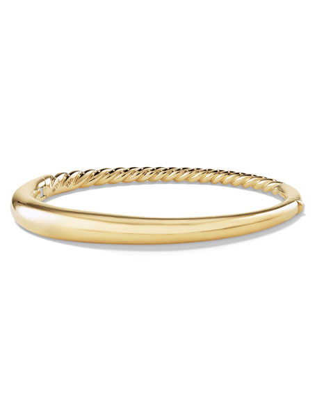 David Yurman 6.5mm Pure Form Smooth 18K Bracelet