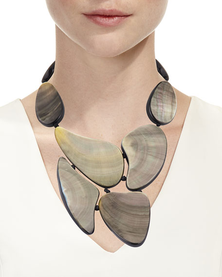 Mother-of-Pearl Statement Necklace