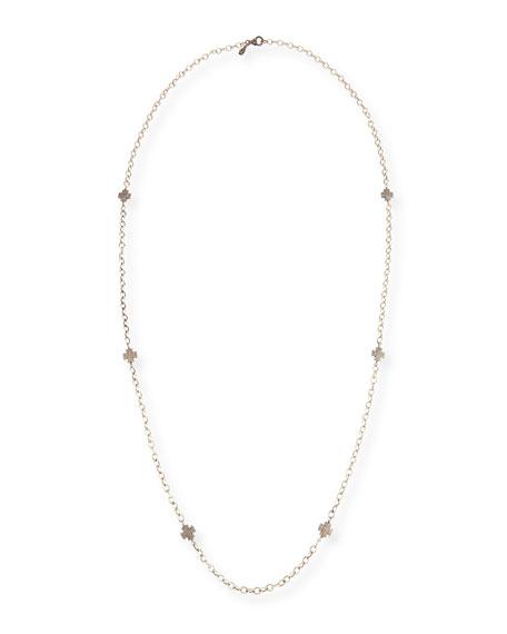 Sheryl Lowe Diamond Maltese Cross Station Necklace, 48