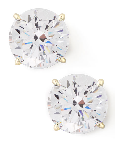 5 Ct. CZ Studs in Yellow Gold