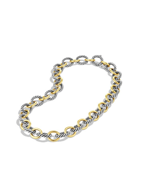 Oval Large Link Necklace with Gold