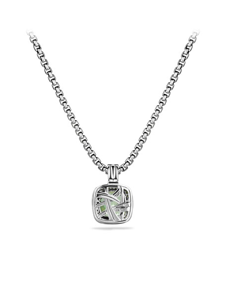 Albion Pendant with Prasiolite and Diamonds