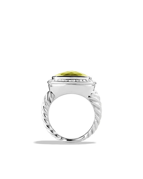 Albion Ring with Lemon Citrine and Diamonds