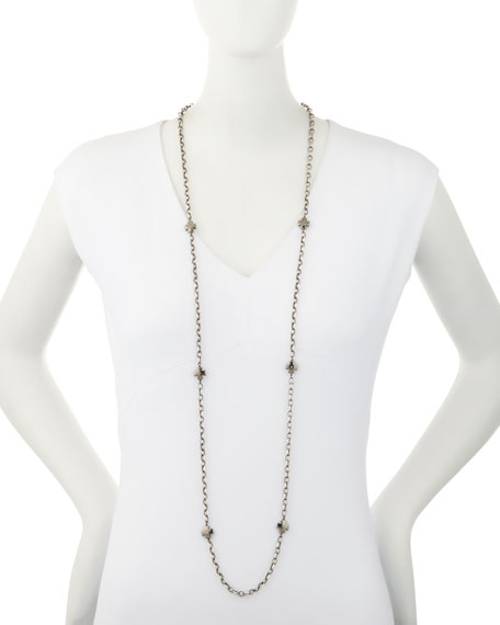 Maltese Cross Necklace with Diamonds