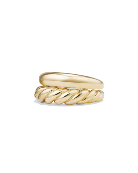 Pure Form 18K Stacking Rings, Set of Two, Size 6