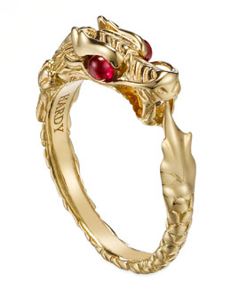 John Hardy Batu Naga 18k Gold Slim Ring, Size 7