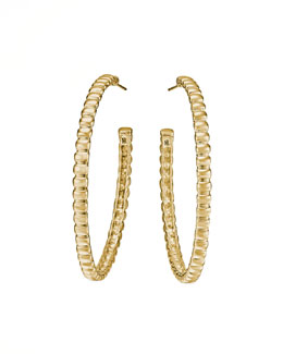 John Hardy Bedeg 18k Gold Medium Hoop Earrings