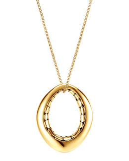 John Hardy Kali 18k Gold Drop Pendant Necklace