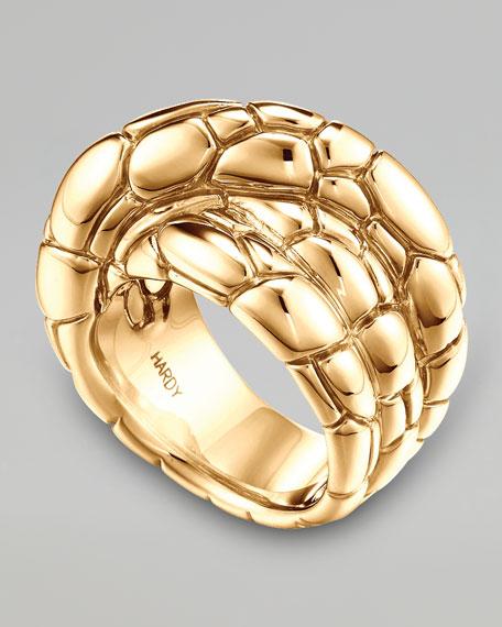 Kali 18k Gold Twist Ring, Size 7