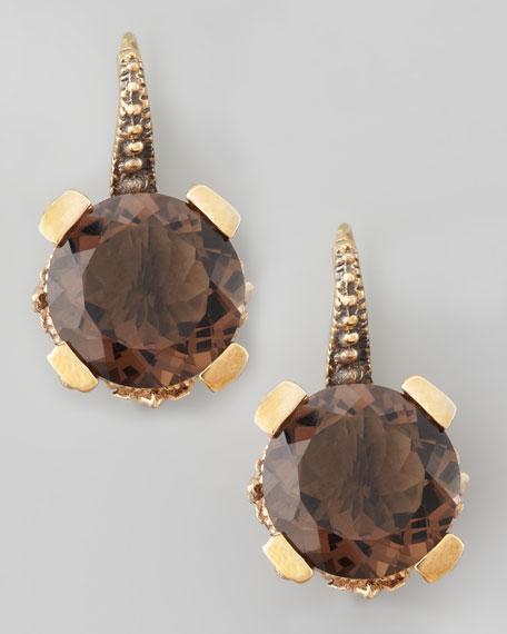 Smoky Quartz Drop Earrings