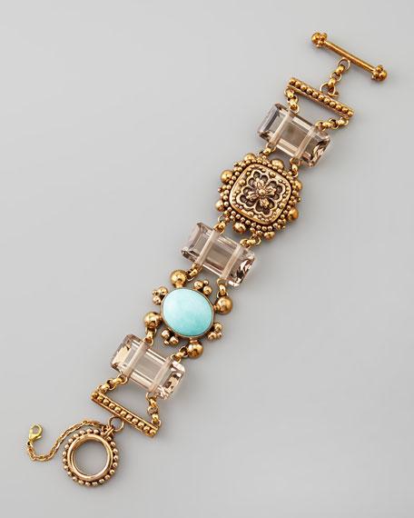 Turquoise & Smoky Quartz Bracelet