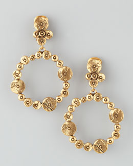 Oscar de la Renta Gypsy Circle Hoop Earrings