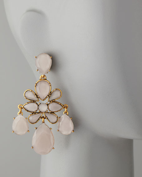 Faceted Chandelier Earrings, Petal