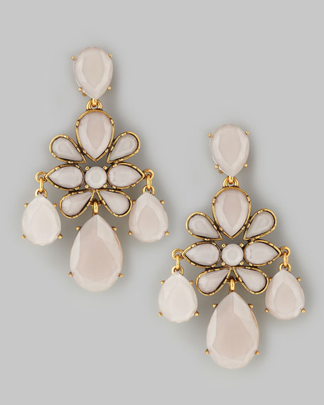 Faceted Chandelier Earrings, Petal
