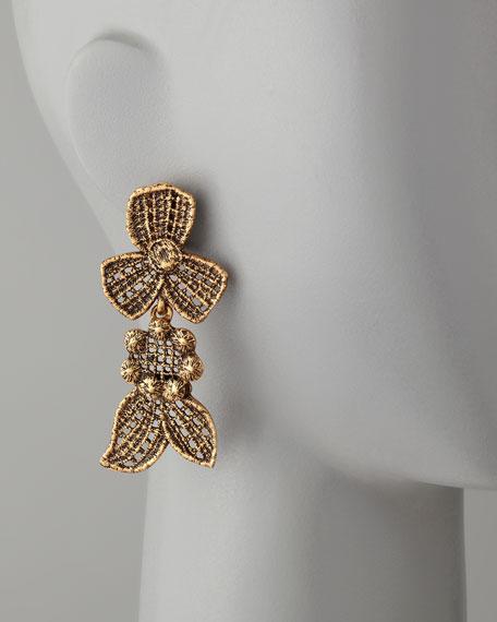 Cast Lace Clip Earrings