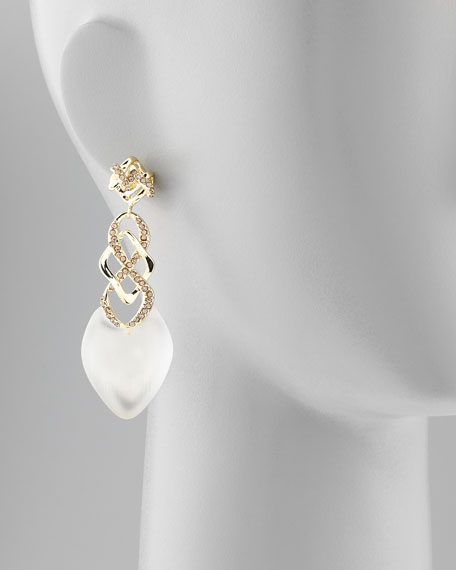 Mod Infinity Drop Earrings, Clear