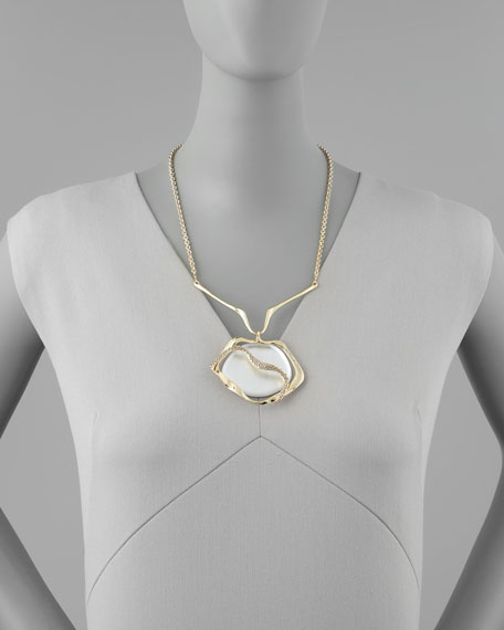 Winding Lucite Pendant Necklace