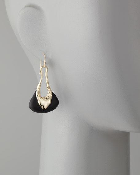 Liquid Light Golden & Black Molten Lucite Earrings