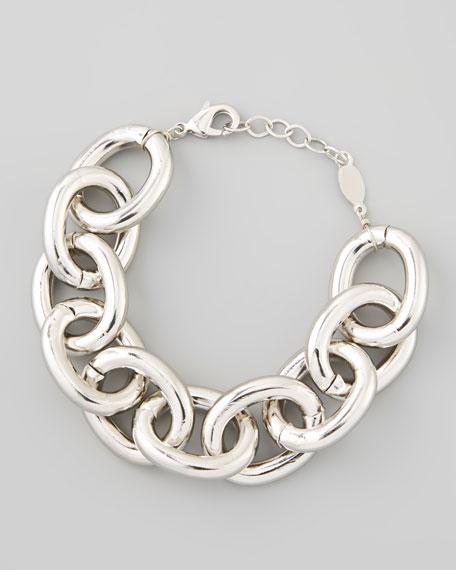 Silvertone Cable Chain Bracelet