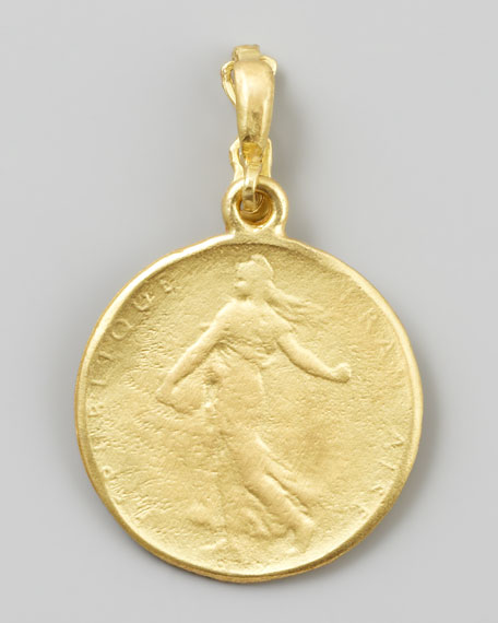 Dominique Cohen Goddess 18k Yellow Gold Classic Coin