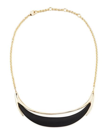 Neo Boho Minimalist Crescent Lucite Necklace