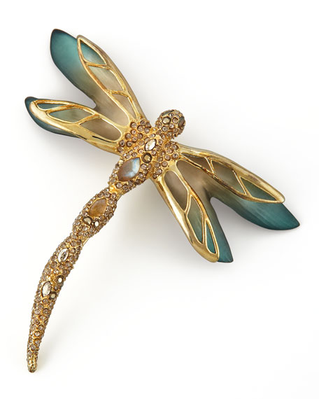 Neo Boho Ombre Pave Dragonfly Brooch