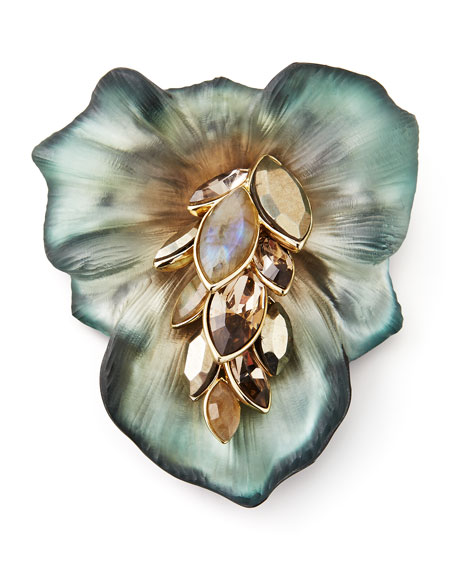 Neo Boho Ombre Small Cascade Day Lily Pin