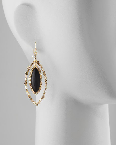 Neo Boho Medium Pave Orbital Earrings