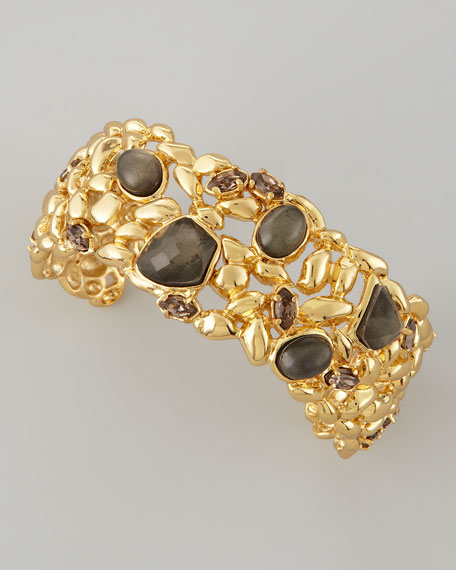 Miss Havisham Fancy Pyrite Doublet Cuff Bracelet